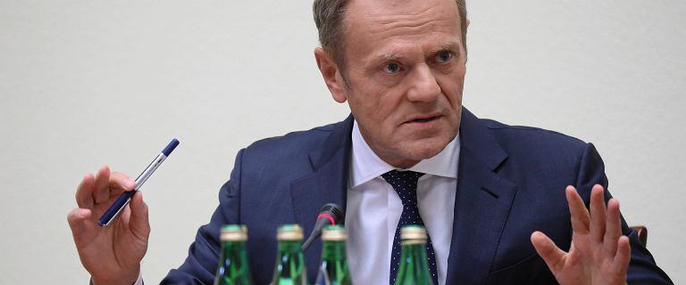 Tusk przed komisją: