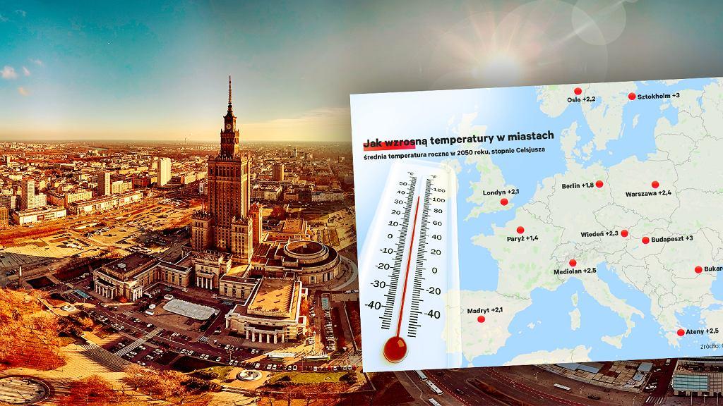 Crowther Lab: W Warszawie w 2050 klimat może być jak dziś w Tbilisi
