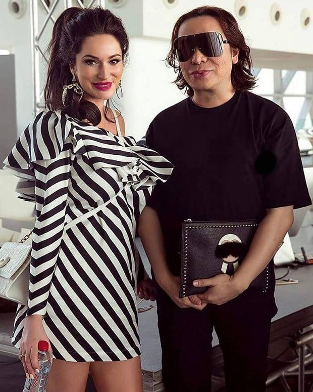 Sylwia Romaniuk z Michaelem Cinco, gwiazdą haute couture z Dubaju