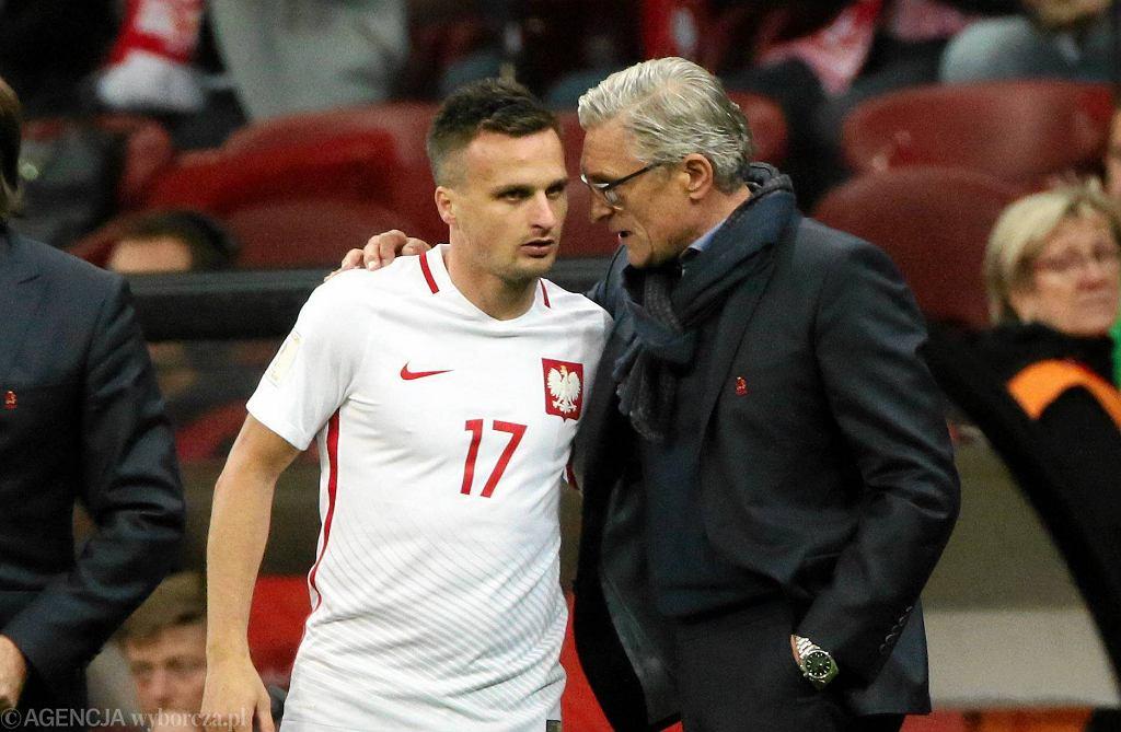 Adam Nawałka i Sławomir Peszko