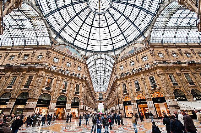 Galleria Vittorio Emanuele, Mediolan, Włochy