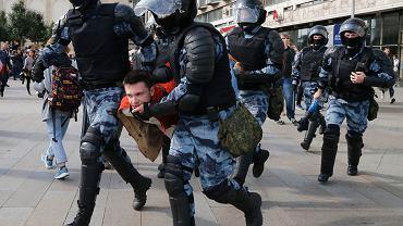 Sobotni protest w Moskwie