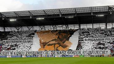 Kibice podczas meczu Górnik Zabrze - Pogoń Szczecin (1:1)