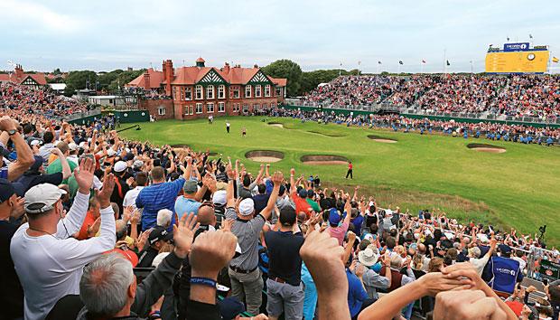 Mój pierwszy raz: na polu golfowym, sport, mój pierwszy raz, Publiczność na na polu golfowym Royal Lytham & St Annes
