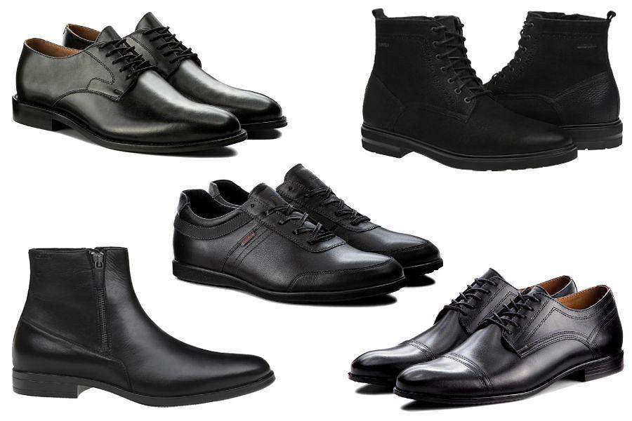 Kolaż / Czarne buty Badura / Materiały partnerów