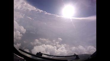Kadr nagrania z oka huraganu Dorian. NOAA