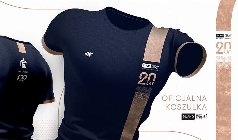 Jubileuszowa, techniczka koszulka dla każdego maratończyka