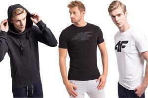 4F wyprzedaż! Bluzy i T-shirty męskie w niskich cenach