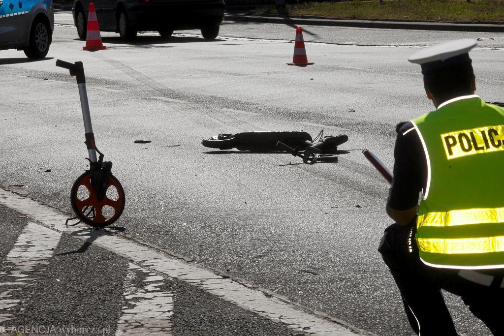 Wrocław. Śmiertelny wypadek mężczyzny jadącego na hulajnodze
