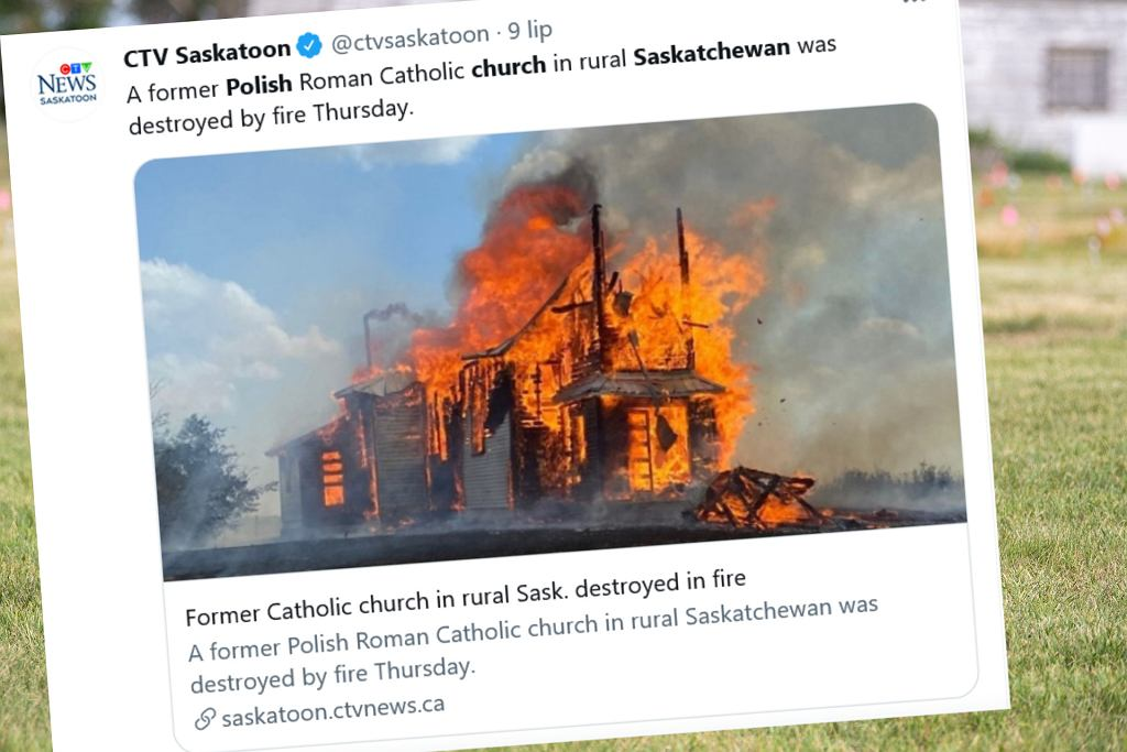 Pożar polskiego kościoła w Kanadzie