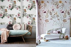 Tapety w kwiaty, sposób na wiosenną aranżację mieszkania
