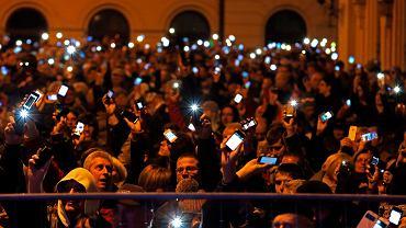 Protest przeciwko opodatkowaniu Internetu