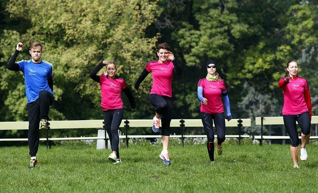 trening blogerów Polska Biega przed maratonem