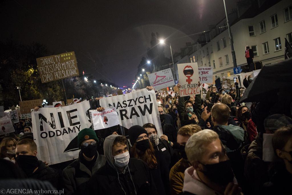 23.10.2020, protest pod domem Jarosława Kaczyńskiego