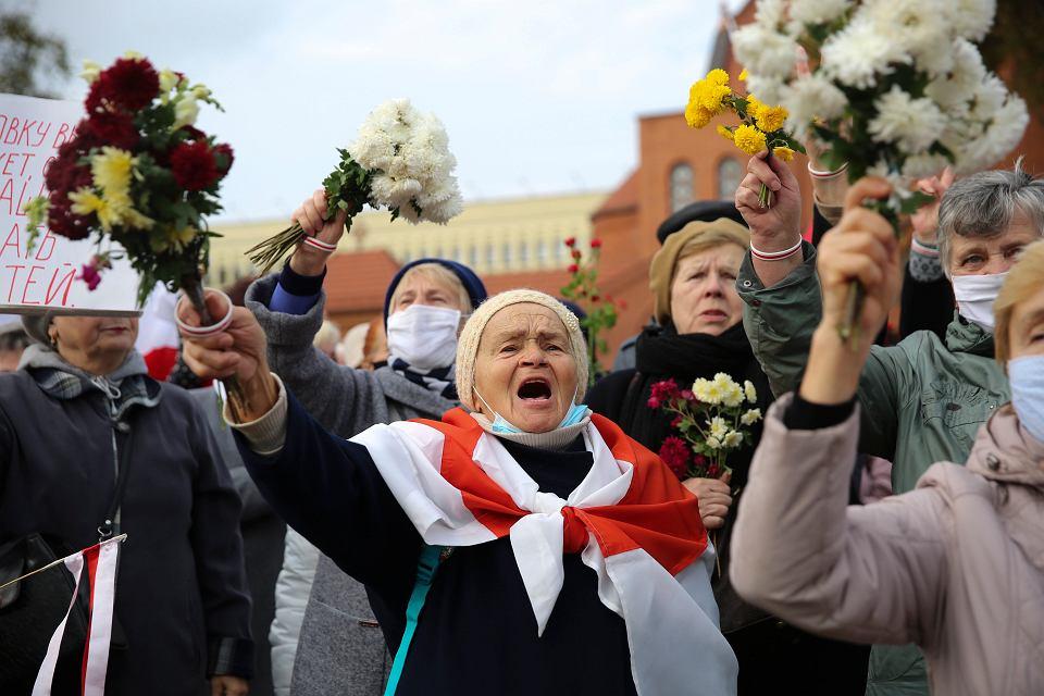 Demonstracja emerytów w Mińsku, 26 października 2020 r.