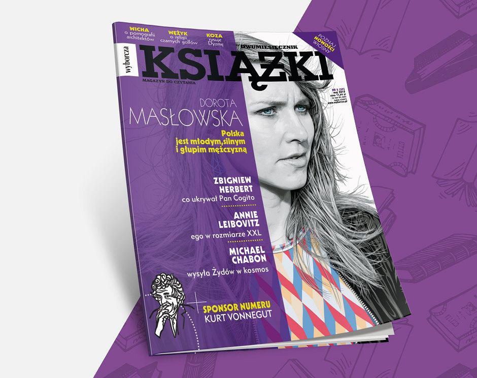 Dwumiesięcznik 'Książki. Magazyn do czytania' z Dorotą Masłowską na okładce już w sprzedaży.