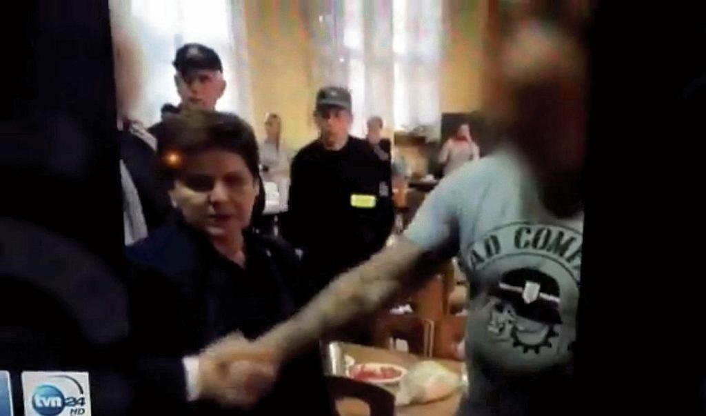 Beata Szydło w Rytlu z członkami Bad Company