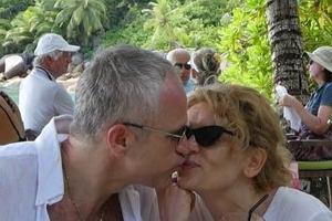 Radosław Pazura i Dorota Chotecka