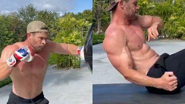 Chris Hemsworth pokazał domowy trening