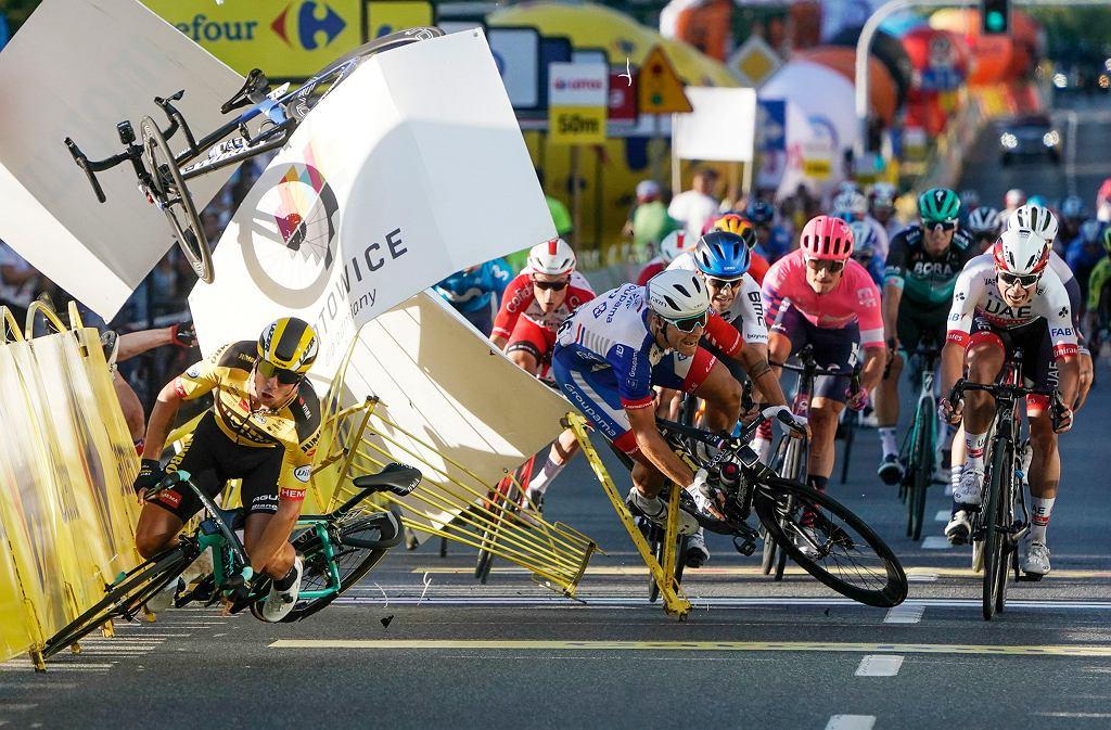 Koszmarny wypadek na finiszu Tour de Pologne w Katowicach, 5 sierpnia 2020.