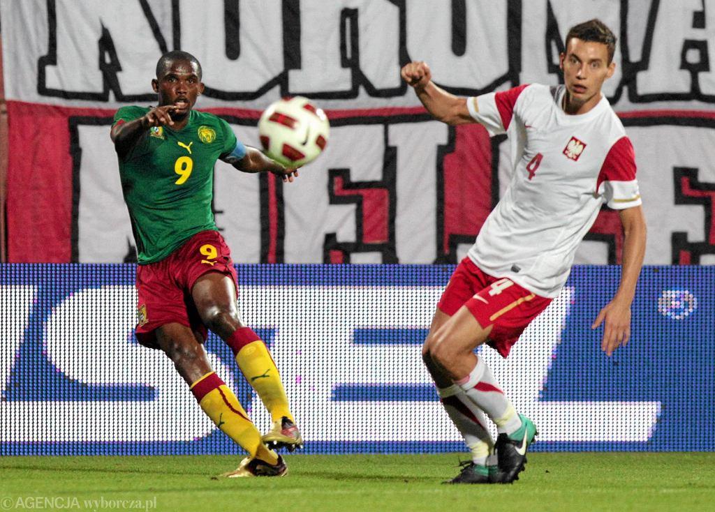 Samuel Eto'o w meczu z reprezentacją Polski w 2010 roku