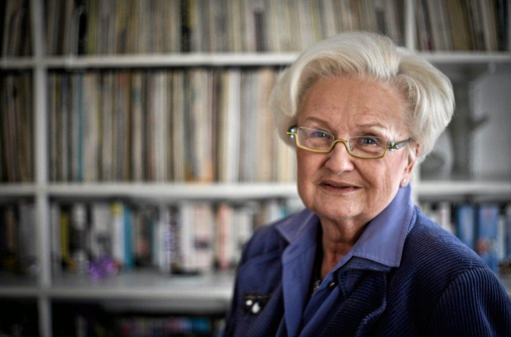 Prof. Ewa Łętowska w swoim domu (fot. Sławomir Kamiński/AG)