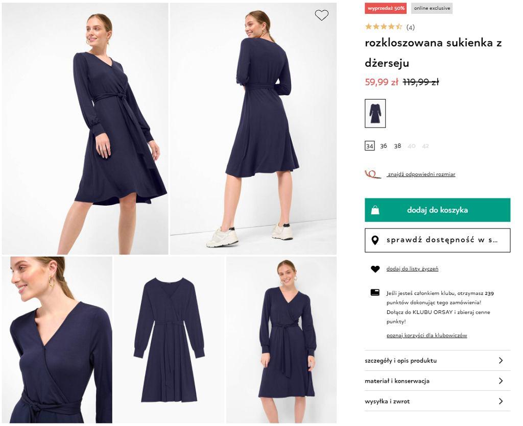 sukienka z orsay