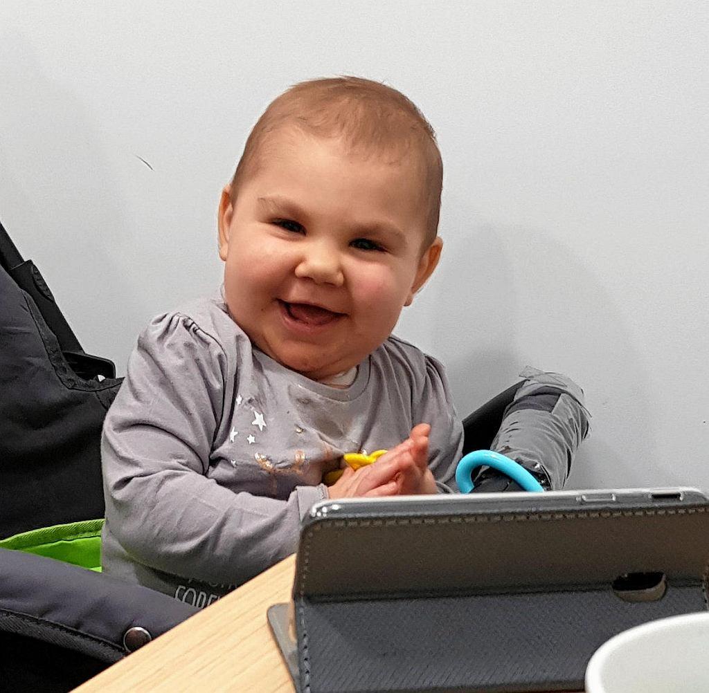 Sandra, najmłodsza pacjentka wrocławskiej kliniki Przylądek Nadziei