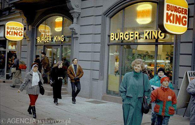Burger King w Katowicach 1995 rok