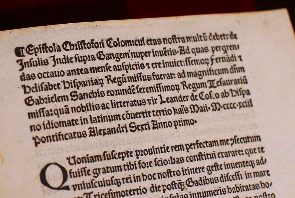 List Krzysztofa Kolumba z 1493 roku