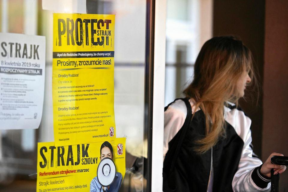 Strajk nauczycieli w Częstochowie