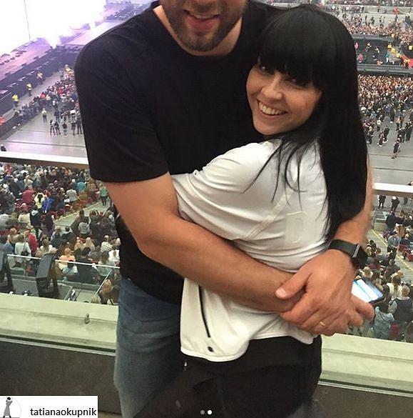 Tatiana Okupnik z mężem