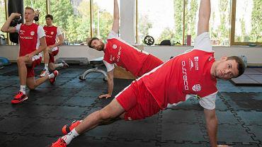 Asseco Resovia na pierwszym treningu na siłowni