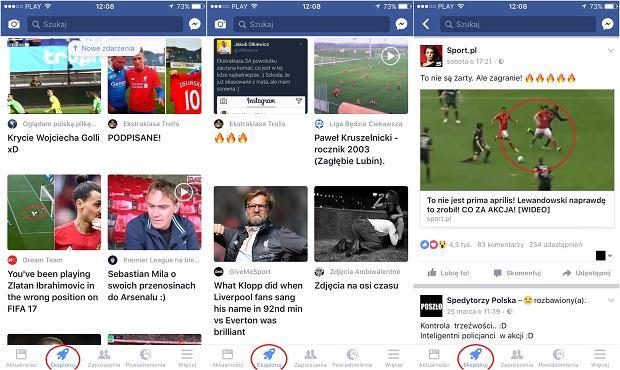 Rakieta Facebooka - nowa funkcja w serwisie