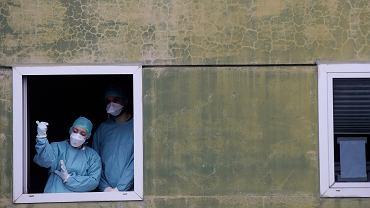 12.03.2020, sytuacja w szpitalu w Brescii w północnych Włoszech.