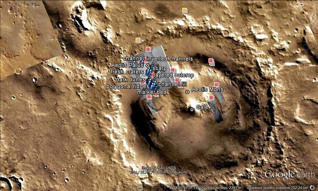 Mars, Google Earth