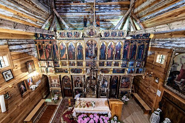 Wnętrze cerkwi w Gorajcu