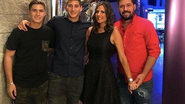Mauro Cantoro z rodziną