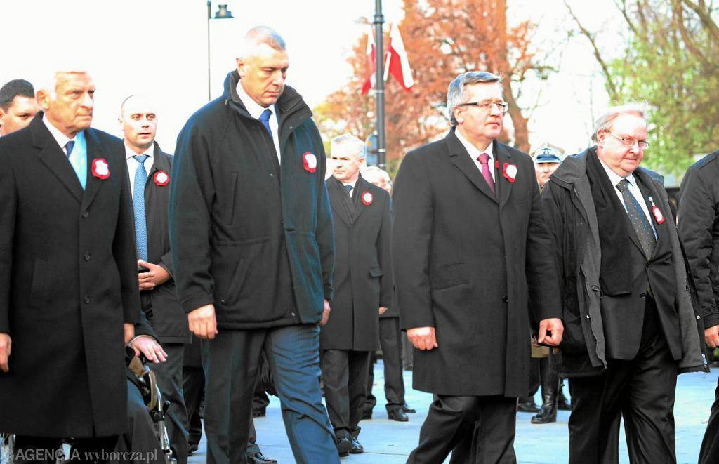 Roman Giertych obchodził 11 listopada z prezydentem Komorowskim, nie - na Marszu Niepodległości