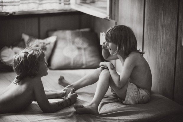 [Polish photographer, Izabela Urbaniak, has taken delightful photos of her children enjoying a summer in Ibiza. The beautiful thing about these photos is portraying her children playing outside, being creative and not sitting inside glued to screens and technology.     The inspiration for this series of photos came from Urbaniaks childhood. The photographer used to spend her holidays at her grandmothers house in the country as a child and loved spending her time outside enjoying nature and being imaginative.       During our stay in Ibiza, my kids never complain about not having computers or PlayStations available. They are very creative and most of the time they play games like Hide and Seek, jump into the lake, swimming, building bases, playing chase, cards etc. A few times during the week we go to our neighbours to feed animals