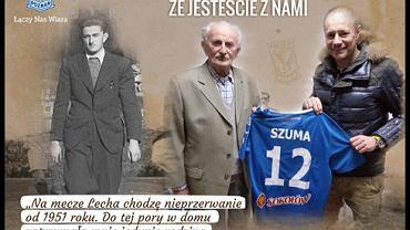 Piotr Reiss z wizytą u najstarszego karnetowicza Lecha Poznań