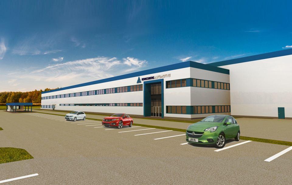 Wizualizacja fabryki Kongsberg Automotive pod Brześciem Kujawskim