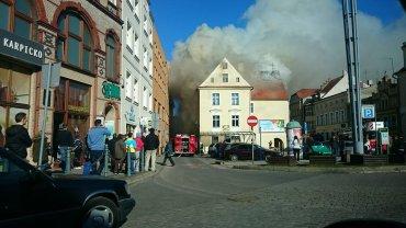 Pożar kamienicy na pl. Pocztowym