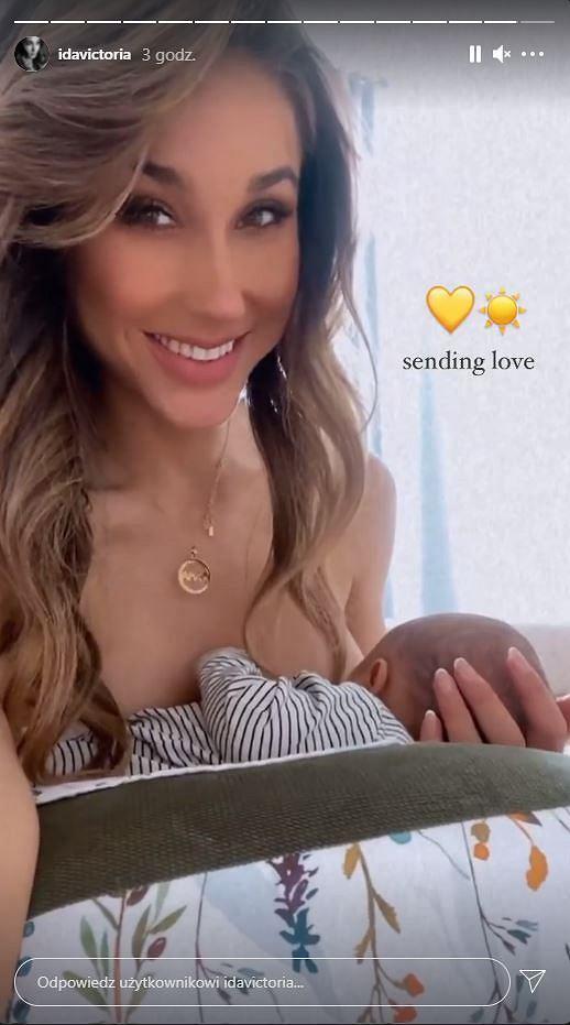 Ida Nowakowska dodała nagranie, na którym karmi synka piersią