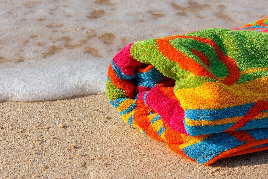 Kolorowy ręcznik plażowy