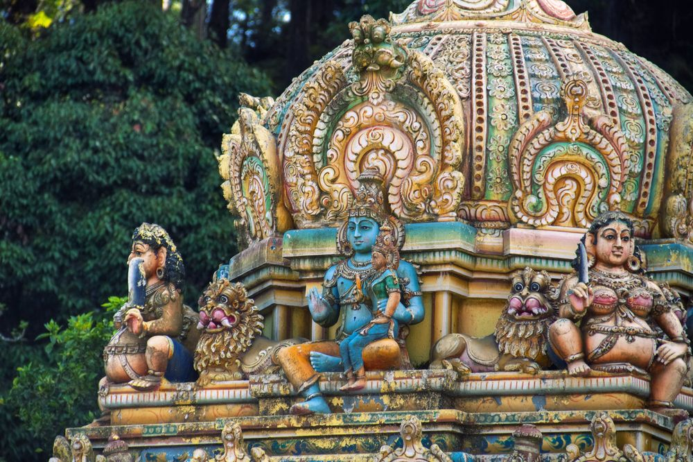 Detale architektoniczne świątyni hinduistycznej w Matale, Sri Lanka / fot. Shutterstock