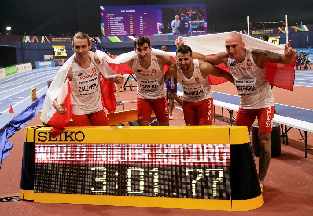 Karol Zalewski, Rafał Omelko, Lukasz Krawczuk i Jakub Krzewina