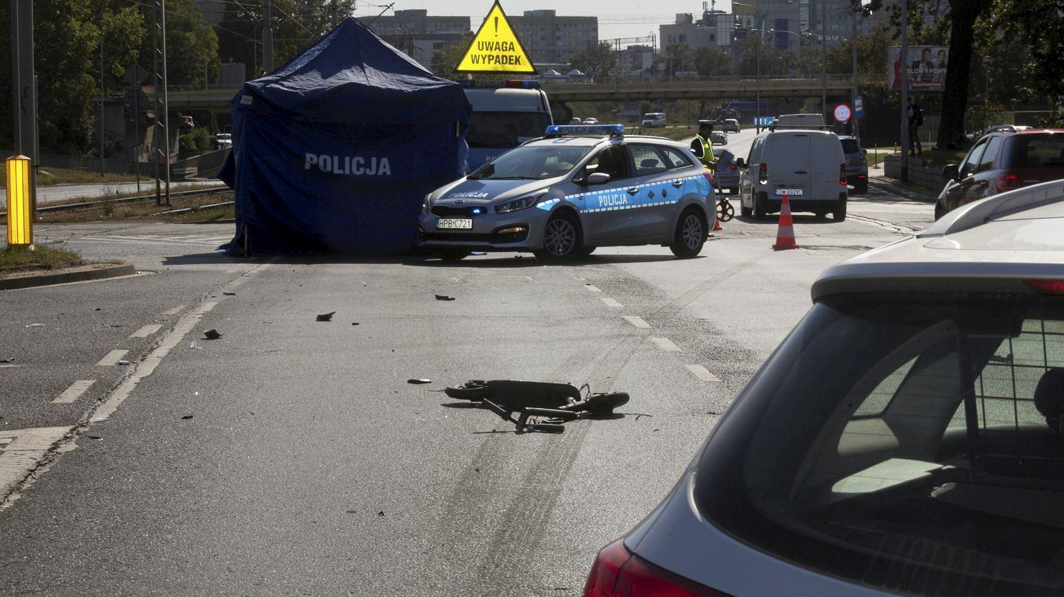 Śmiertelny wypadek z udziałem elektrycznej hulajnogi we Wrocławiu