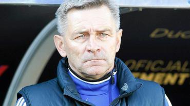 Trener Józef Dankowski. Zabrze. Górnik - Pogoń Szczecin 1:1