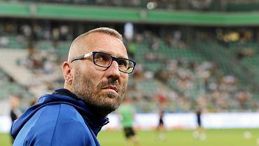 Marek Papszun, trener Rakowa Częstochowa, na stadionie Legii Warszawa przy ul. Łazienkowskiej, wrzesień 2019 r.
